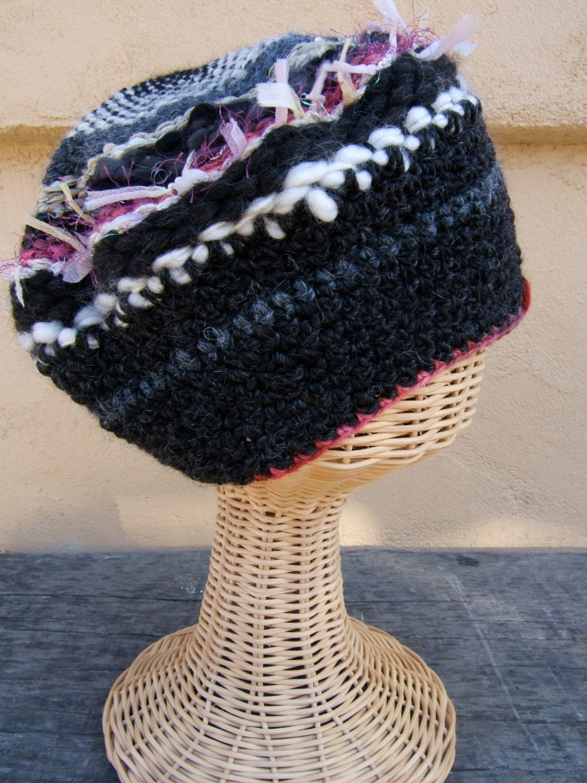 circular weaved hat